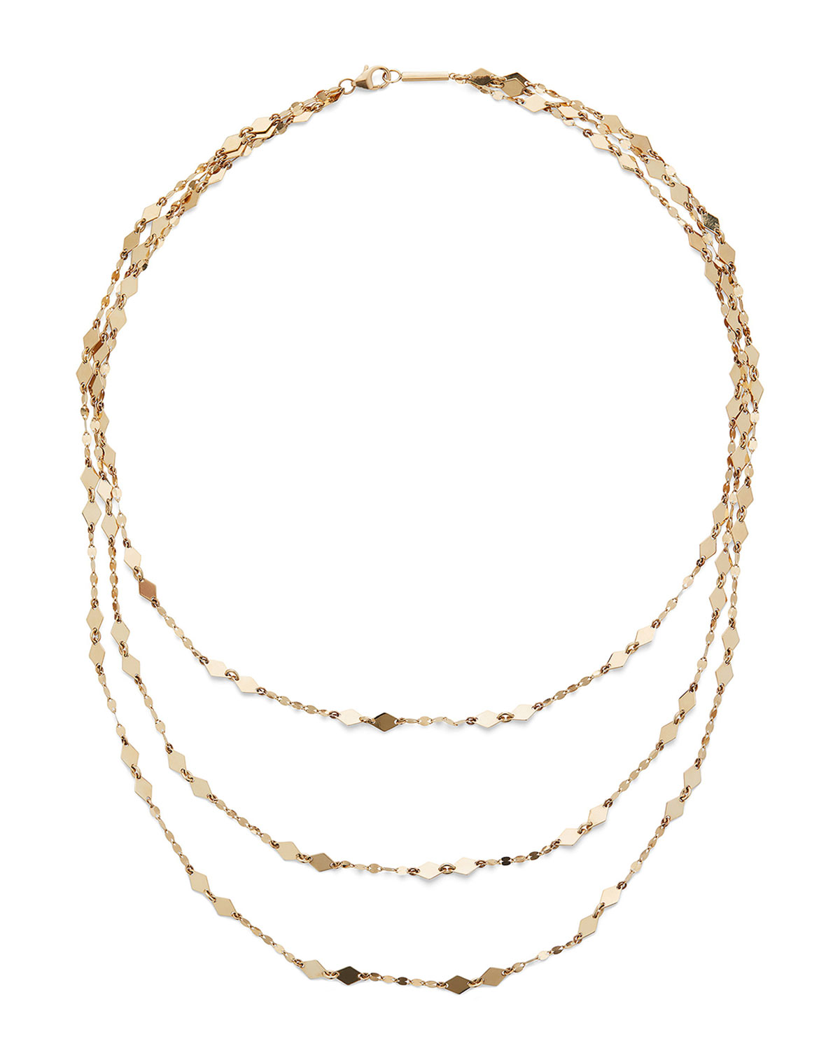 Lana 14k Gold Roma Triple-Strand Necklace