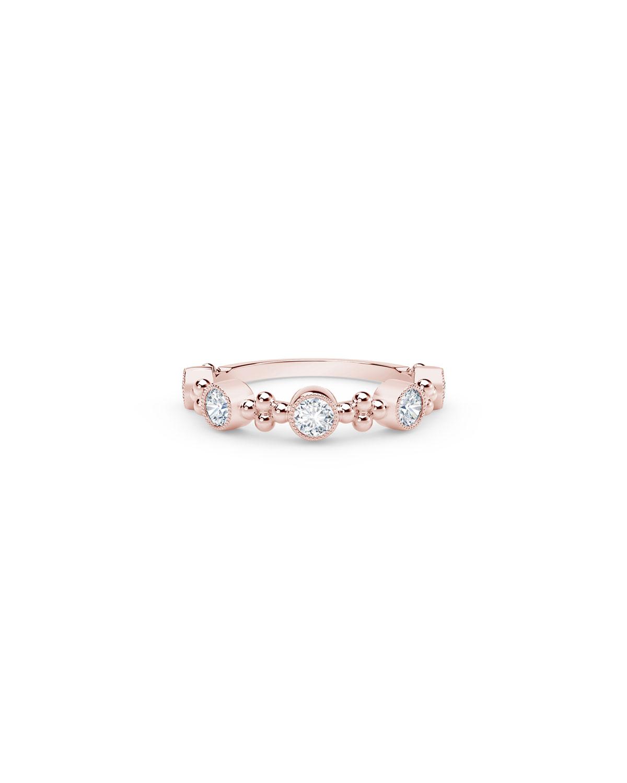 Tribute 18k Rose Gold Diamond Stack Ring