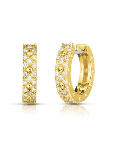 Pois Moi Luna 18k Gold Diamond Hoop Earrings