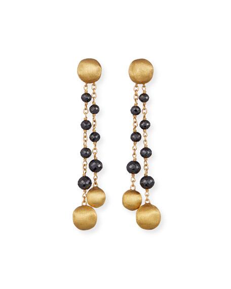 Marco Bicego 18k Gold Africa Black Diamond Dangle Earrings