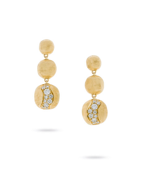 Marco Bicego 18k Gold Africa Diamond Constellation Triple-Drop Earrings