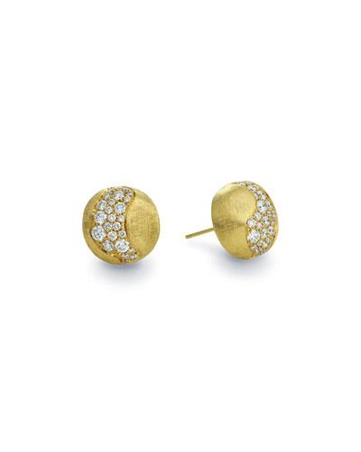 18k Gold Africa Diamond Constellation Stud Earrings