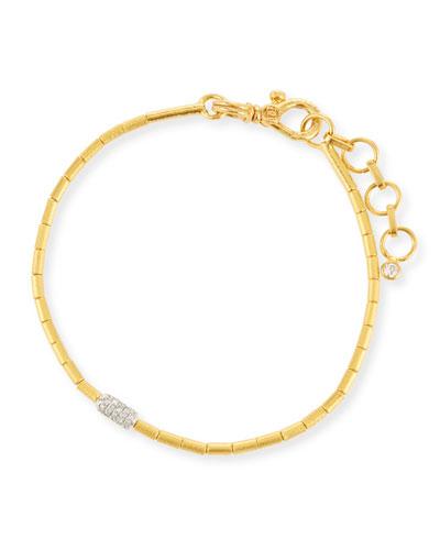 Vertigo Single-Strand Gold Pave Diamond Bracelet