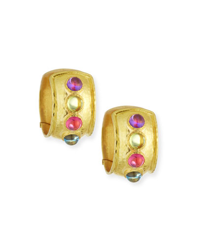 860cfa2fd Quick Look. Elizabeth Locke · Tutti Frutti Wide Hoop Earrings