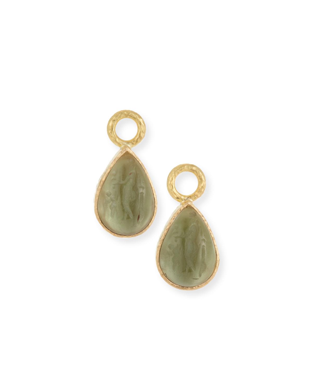 ELIZABETH LOCKE 19K Gold Venetian Glass Pear Earring Charms