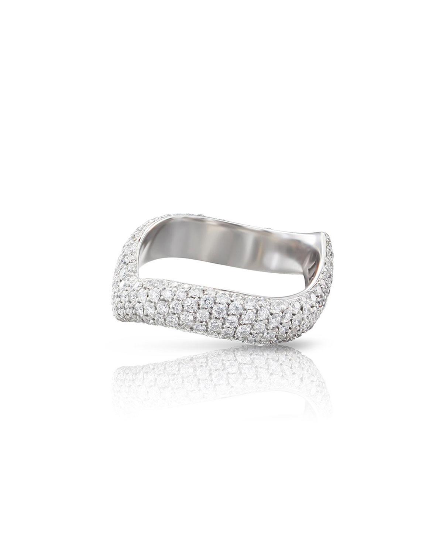 PASQUALE BRUNI Sensual Touch 18K White Gold 220-Diamond Ring, Size 6