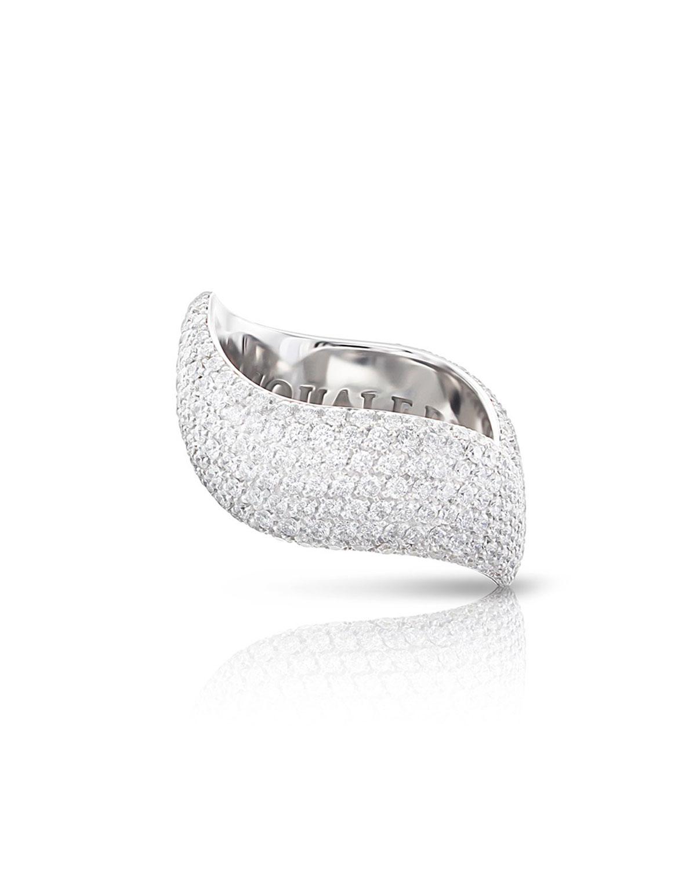PASQUALE BRUNI Sensual Touch 18K White Gold 310-Diamond Ring, Size 7.5
