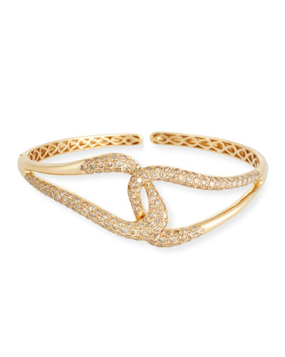 18k Gold & Brown Diamond Link Bracelet