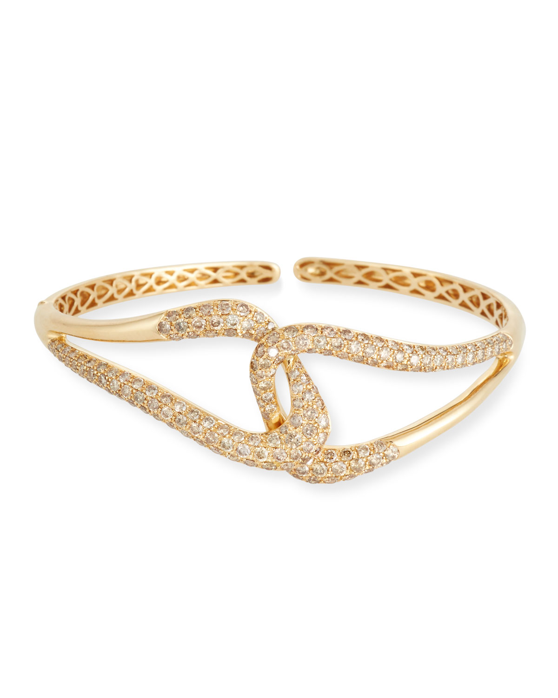 ETHO MARIA 18K Gold & Brown Diamond Link Bracelet