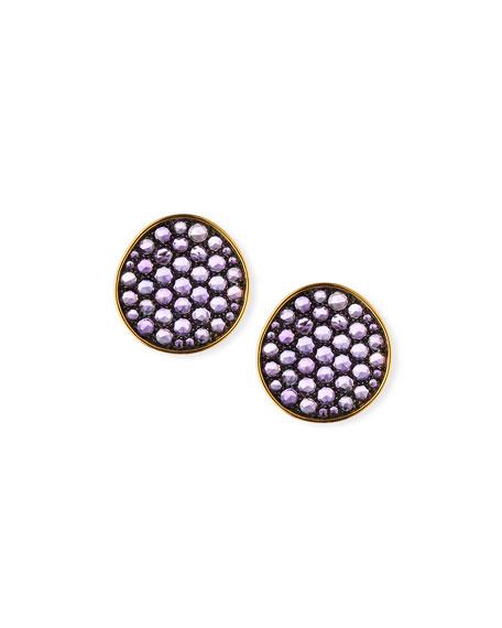Etho Maria 18k Gold & Amethyst Earrings