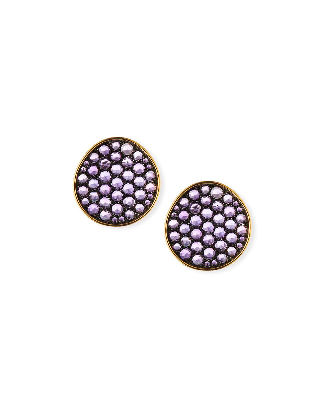 18k Gold & Amethyst Earrings