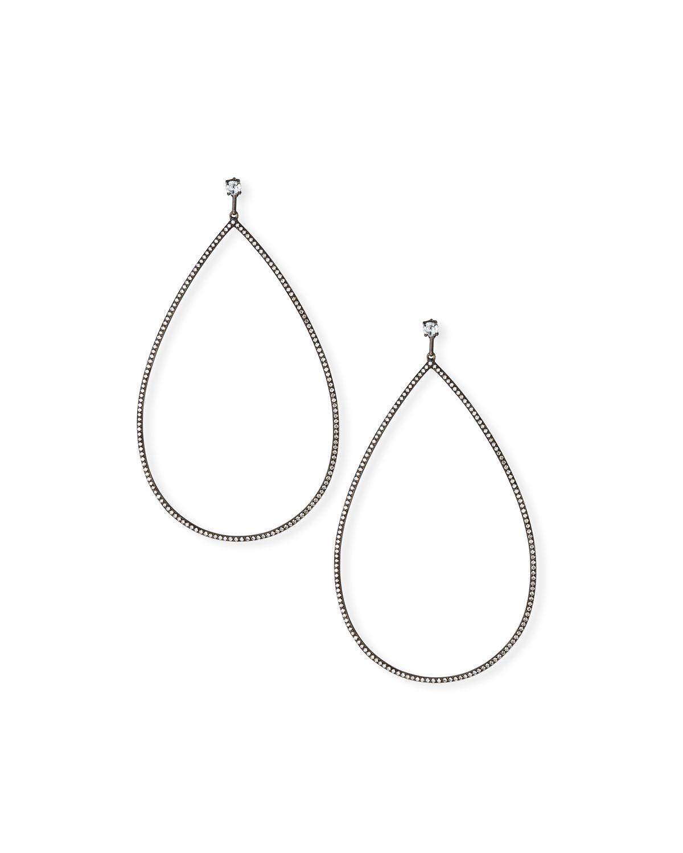 ETHO MARIA 18K Gold Open Diamond Drop Earrings