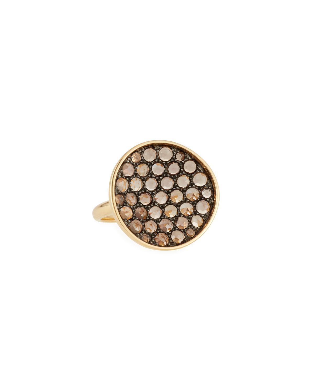 18k Gold & Smoky Quartz Ring