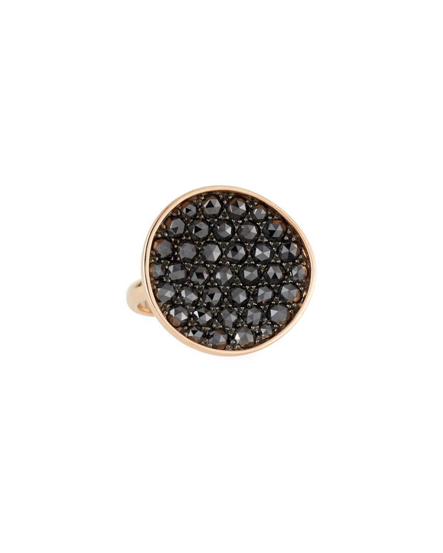 18k Gold & Black Diamond Ring