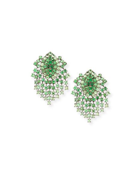 Alexander Laut 18k Black Gold Tsavorite Clip-On Earrings