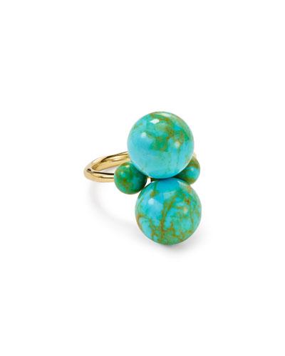 Nova 18k Gold Turquoise Matrix Ring