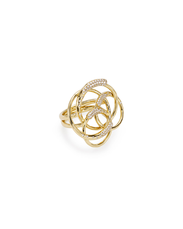18k Gold & Diamond Stardust Ring