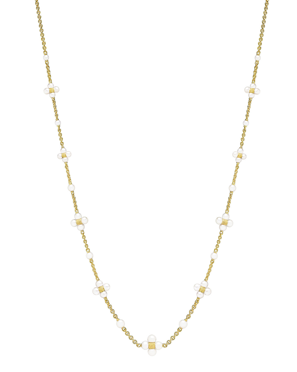PAUL MORELLI 18K Gold Pearl Sequence Necklace