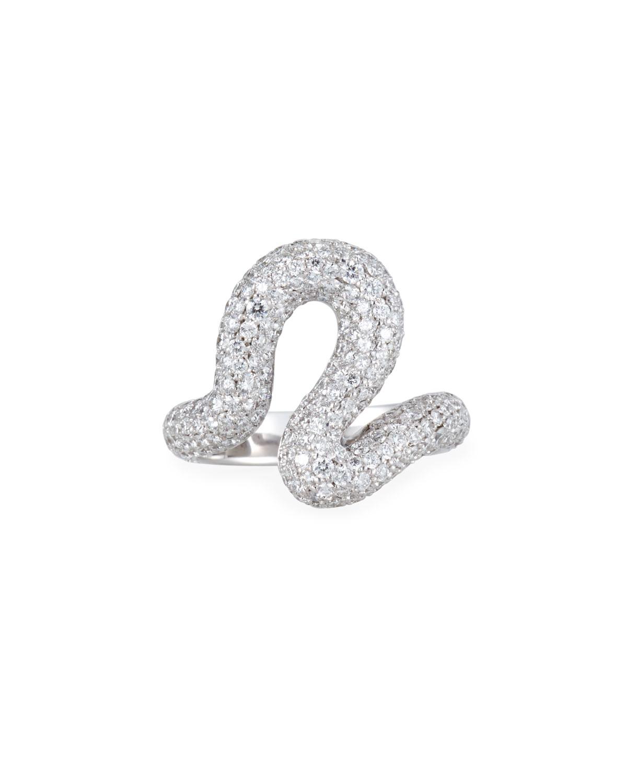 CARELLE Brushstroke 18K White Gold Diamond Ring