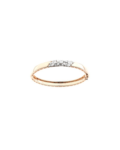 Round & Marquise Diamond Bangle in 18k Gold, 1.41tcw