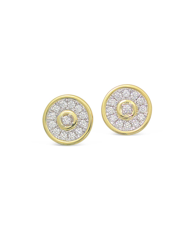18k Gold Firenze Spinning Diamond Disc Earrings
