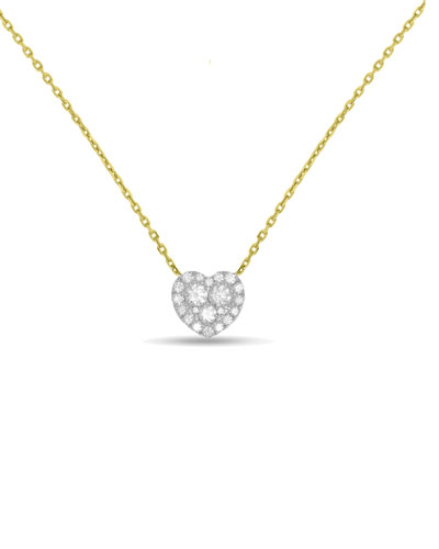 18k Gold Firenze II Diamond Heart Pendant Necklace