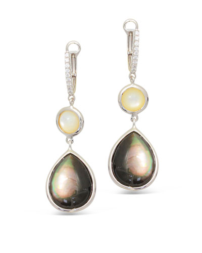 Luna 18k White Gold White/Pink Mother-of-Pearl Earrings