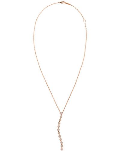 14k Rose Gold Legacy Diamond Lariat Necklace