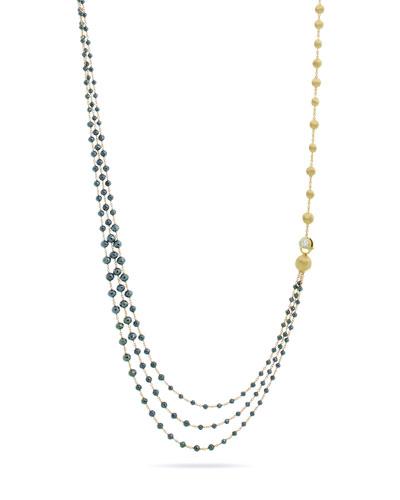 Africa 18k Gold & Black Diamond Necklace