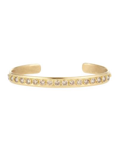 Sueno 18k Gold & Diamond Granulated Bangle