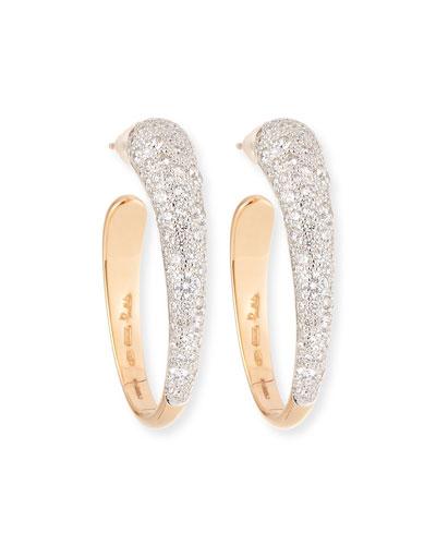 Tango 18K Gold Hoop Earrings with Diamonds