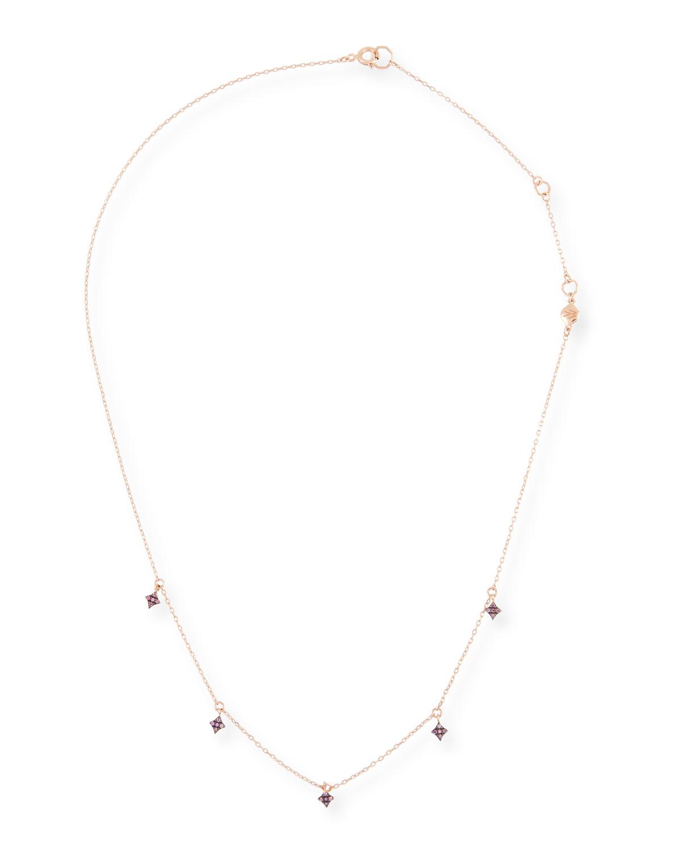 STEVIE WREN 14K Northern Star Diamond Dangle Necklace