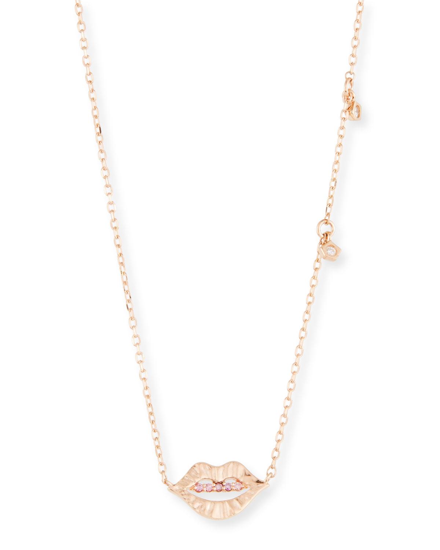 STEVIE WREN 14K Smooch Diamond & Dangle Pendant Necklace