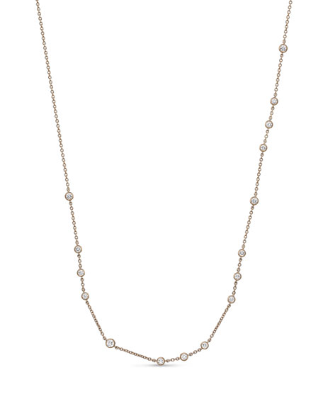 Memoire 18k Rose Gold Dazzling By-the-Yard Necklace