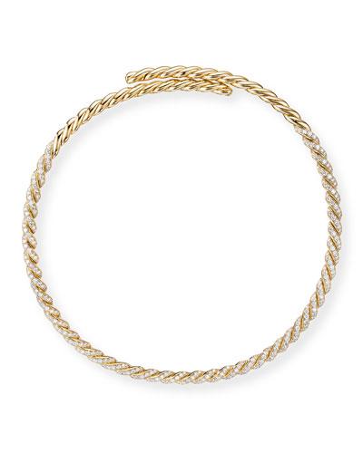 Pave Flex 18k Diamond Necklace