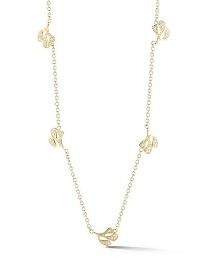 ce580fe27c4 Quick Look. Miseno · Sea Leaf 18k Gold Diamond Station Necklace