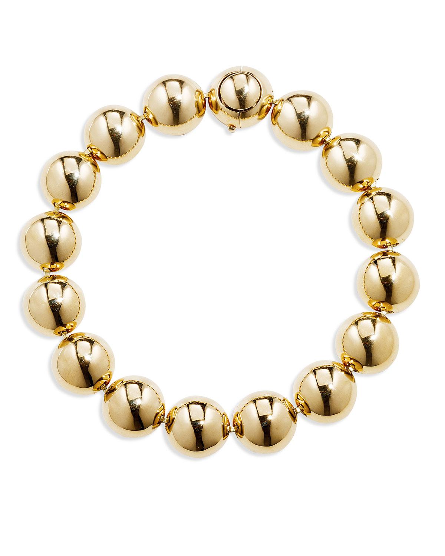 18k Gold Bead Bracelet