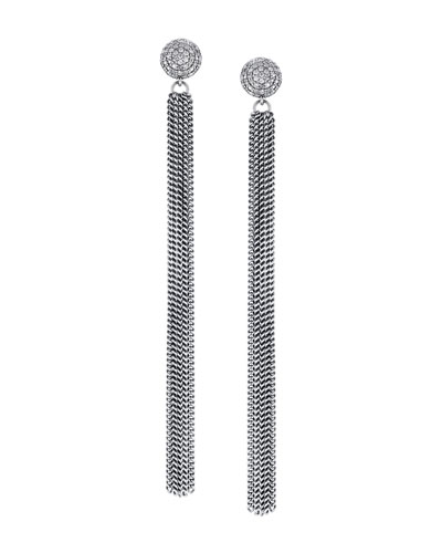 Extra-Long Diamond & Fringe Earrings