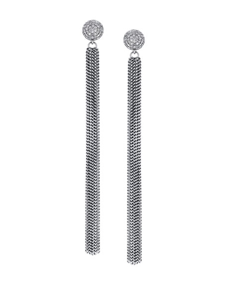 Sheryl Lowe Extra-Long Diamond & Fringe Earrings