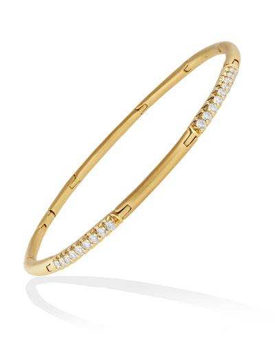 Moderne 18k Alternating Diamond Stick Bracelet
