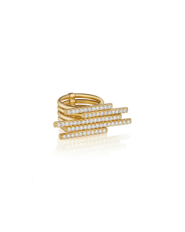 CARELLE 18K Gold 5-Diamond Sticks Ring