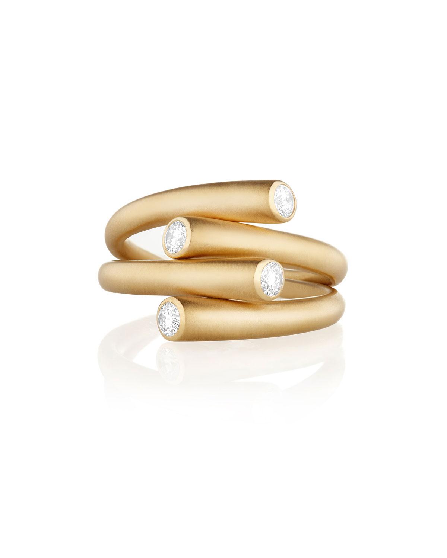 CARELLE Whirl Duo 18K Diamond Ring
