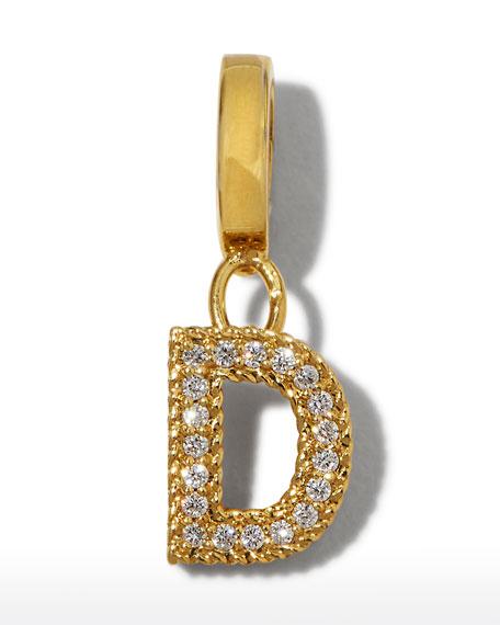 Roberto Coin 18k Gold & Diamond Letter D Charm