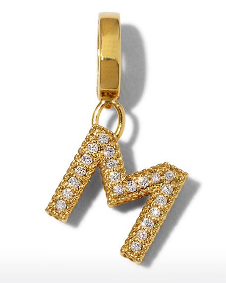 Roberto Coin 18k Gold & Diamond Letter M Charm