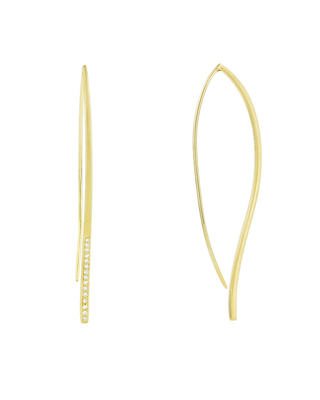 CARELLE Athena 18K Diamond Minimalist Earrings