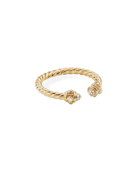 David Yurman Renaissance 18k Gold & Diamond Ring, Size 7