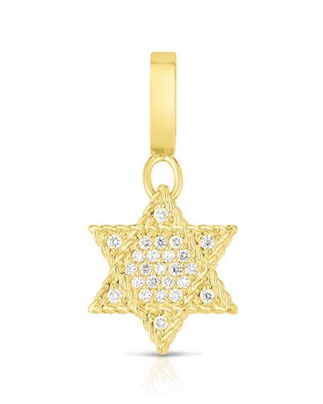 Roberto Coin 18k Gold & Diamond Star of David Charm