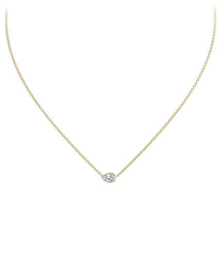 Forevermark 18k Gold Diamond Pear Pendant Necklace