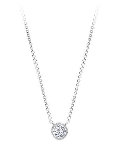 59deefe0ebd44 Bezel White Diamond Necklace | Neiman Marcus