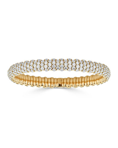 Stretch 18k Gold & Diamond Bracelet, 10.45tcw